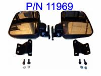 Polaris Ranger Folding Mirror set for the PRO-FIT Cage (non-round cage)