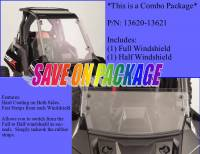 UTV Parts & Accessories - Polaris - Extreme Metal Products, LLC - Polaris RS1 Windshield Combo (Full and Half Windshields)