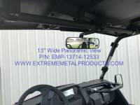 "Extreme Metal Products, LLC - Wolverine X-2, 13"" Wide Panoramic Rear View Mirror - Image 5"