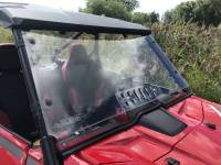 Extreme Metal Products, LLC - Honda Talon Windshield with vent (Hard Coated on Both Sides)