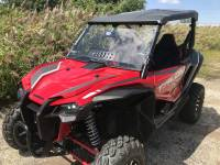 Extreme Metal Products, LLC - Honda Talon Windshield with vent (Hard Coated on Both Sides) - Image 3