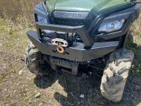 Extreme Metal Products, LLC - Honda Pioneer Front Brush Guard with Winch Mount - Image 3