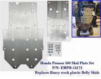 Extreme Metal Products, LLC - Honda Pioneer 500 Belly Skid Plates (aluminum set of two) - Image 2