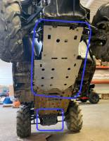 Extreme Metal Products, LLC - Honda Pioneer 500 Belly Skid Plates (aluminum set of two) - Image 3
