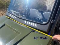 Extreme Metal Products, LLC - 2015-21 Mid-Size/2-Seat Polaris Ranger Laminated Glass Windshield - Image 8
