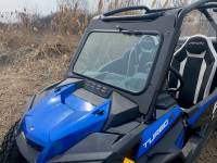 Polaris - RZR® Turbo S and Velocity Turbo S (these have a different cage than the standard RZR Turbo) - Extreme Metal Products, LLC - RZR Turbo S Laminated Glass Windshield with wiper