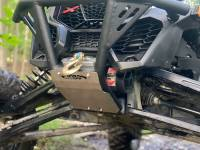 """Extreme Metal Products, LLC - Can-Am Maverick X3 """"BALLISTIC"""" Front Bumper with Winch Mount - Image 3"""