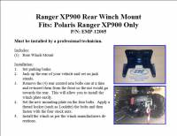 Extreme Metal Products, LLC - Ranger XP900, Full Size Ranger 570 and XP1000 Rear Winch Mount - Image 3