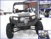 Polaris - RZR® 4 - Extreme Metal Products, LLC - RZR Extreme Front Bumper / Brush Guard with Winch Mount