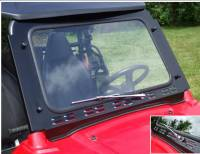 Polaris - RZR® - Extreme Metal Products, LLC - RZR Laminated Safety Glass Windshield with Wiper