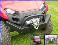 Polaris - RANGER®  - Mid Size - Extreme Metal Products, LLC - Mid-Size Ranger Extreme Front Bumper / Brush Guard with Winch Mount