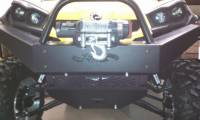 Extreme Metal Products, LLC - Commander Front Bumper / Brush Guard with Winch Mount - Image 3