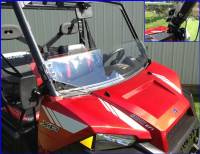 Polaris - GENERAL™ 1000 EPS - Extreme Metal Products, LLC - Ranger XP900,2015-17 Full Size Ranger 570, and Ranger XP1000 Half Windshield / Wind Deflector
