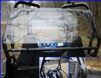 Polaris - RZR® 570 - Extreme Metal Products, LLC - RZR Hard Coated Cab Back / Dust Stopper