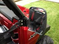 Extreme Metal Products, LLC - Polaris Ranger Folding Mirror set for the PRO-FIT Cage (non-round cage) - Image 4