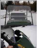 Extreme Metal Products, LLC - Mule 3000 & 3010 Full Windshield - Image 1