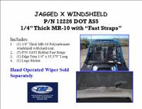 Extreme Metal Products, LLC - RZR XP H.O. Jagged X Edition Hard Coat Full Windshield - Image 2