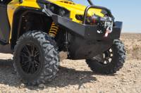Can-Am - Commander - Extreme Metal Products, LLC - Commander Front Bumper / Brush Guard with Winch Mount