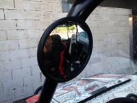 "Honda - Big Red - Extreme Metal Products, LLC - UTV 5-1/2"" Rearview Mirror with a 1-5/8 and 1-3/4"" Diameter Bracket"