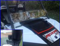 Extreme Metal Products, LLC - RZR XP1K and 2015 RZR 900 Half Windshield/ Wind Deflector