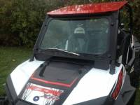 Extreme Metal Products, LLC - RZR XP1000 and 2015-16 RZR 900, 2016 RZR-S 1000 Laminated Safety Glass Windshield with Wiper
