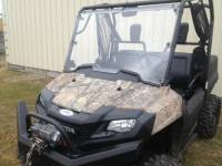 Extreme Metal Products, LLC - Pioneer 700 Hard Coated Full Windshield - Image 6